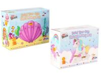 Children's Paint Your Own Ceramic Money Box Piggy Bank Shell Unicorn Craft Kit