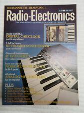 RADIO ELECTRONICS MAGAZINE JAN 1977 KEYBOARD SYNTHESIZER DIGITAL CAR CLOCK