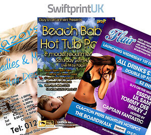 Printed Leaflets Flyers Full Colour - 170gsm Gloss A3 / A4 / A5 / A6 / DL