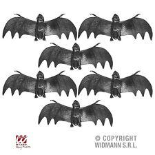 Fledermaus 6 Stück schwarz Fledermäuse für Halloween Fasching Party Deko 08163