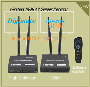 High Definition Digimate WD-2000 HDMI1080p AV Sender Receiver+Foxtel IQ2 Remote