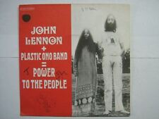 JOHN LENNON 45 TOURS FRANCE POWER TO THE PEOPLE