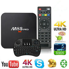2017 New M8S Pro S905 TV BOX Android 6.0 1GB/8GB  Media Player w/h Keyboard