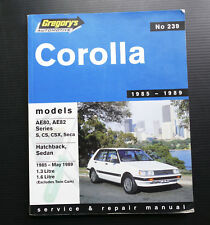 COROLLA AE80 AE82 S CS CSX Seca Hatch Sedan Workshop Service Repair Manual Guide