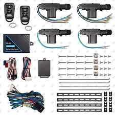Remote Keyless Entry System + 4 Door Power Lock Heavy Duty Actuator Motor Kit
