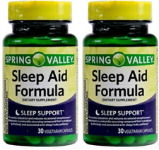 Spring Valley Sleep Aid Formula Dietary Supplement 30 capsules - 2 pack