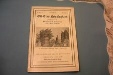 Old Time New England Oct.1931 Booklet Soc Preserve Antiquties