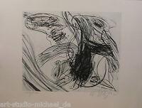 Walter Stöhrer: Radierung Große, gestische Komposition, 100/100, 1998