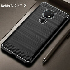 For Nokia 7.2 6.2 2.4 3.2 5.1 1 Plus Carbon Fiber Soft Silicone Phone Case Cover