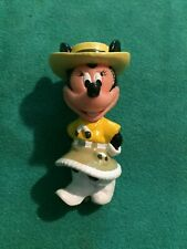 Minnie Mouse Pvc Figure Htf Cowgirl Western Minnie Disney 2 1/2 Inch Collectible