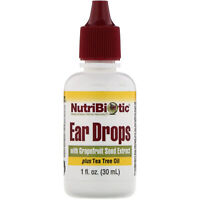 NutriBiotic  Ear Drops with Grapefruit Seed Extract plus Tea Tree Oil  1 fl oz