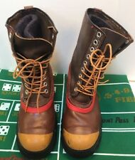 9 Eye Boots Brown Leather Rubber Duck Insulated Winter Snow USA Made Men's 9