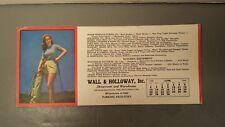 Vintage Golf Blotter Pinup Girl Wall & Holloway 1948 Old Par Excellence Antique