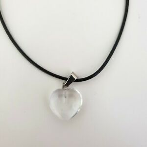 Love Heart Chakra Necklace Quartz Reiki Crystal Healing Point Cut Pendant Yoga