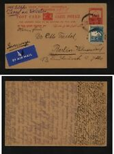 Palestine nice uprated postal card to  Germany  1939      AT0520