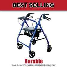 Premium Lightweight Rollator Rolling Walker with Medical Curved Back Soft Seat
