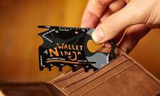 -The Wallet Ninja-X2 18in1 SKATER/BOARDER/BIKER/OUTDOORSMAN/TRAVEL/SURVIVAL tool