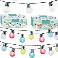 GardenKraft Retro 50 LED String Bulb Party Lights Garden BBQ Indoor Outdoor Use