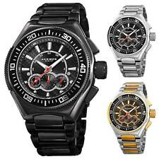 Homme Akribos XXIV AK910 Quartz Chronographe Bracelet Acier Inoxydable Montre