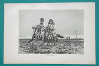 KYRGYZSTAN  fmr Russia Kyrgyz Men Riding Horses Horsemen - 1884 Antique Print