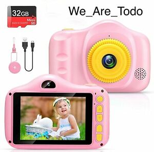 Voltenick - Kids Toy Digital Camera For Girls, 3.5Inch 32GB TF Card, Pink, Games