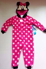 Girls Minnie Mouse Red Spotty Cotton Onezee Sleepsuit All In One BNWT