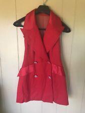 Women's EN FRANCAIS Red TUXEDO Dress COCKTAIL Formal Evening Gown Sz2/UK4/Ger30