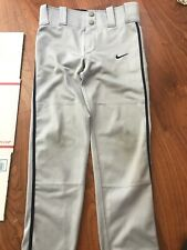 New listing Nike Youth Extra Small Gray With Navy Stripe Baseball Pants