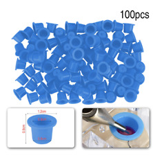 Tattoo Ink Cap Cup Container Plastic Permanent Makeup Pigment Accessories Holder