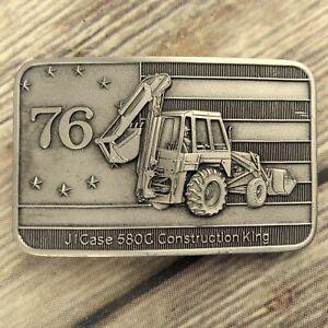 Case Tractor Bicentennial Belt Buckle 580C Construction King Vintage 1976