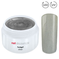 Color UV Gel LED FARBGEL SILVER French Modellage NailArt Design Nagel Silber Tip