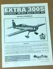 Great Planes Extra 300S 40 Instruction Build Owners Manual Sport Scale EXT4P03