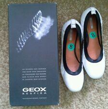 Geox LOLA Women Ballet Flats Slip-On D22M4X  White 8/38 NEW