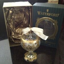Waterford Crystal 2001 Glass Holiday Heirlooms Goblet Christmas Ornament NIB