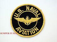 "US NAVAL AVIATION 4"" PATCH USS NAVY PILOT WING PIN UP TOPGUN F14 F18 CH46 A6 WOW"