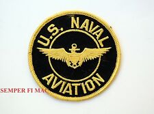 "US NAVAL AVIATION 4"" PATCH USS NAVY PILOT WING PIN UP TOPGUN F14 F18 CH46 A6 WOW"