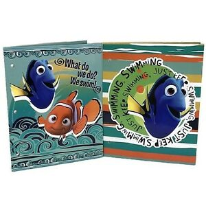 Disney Pixar Finding Dory Nemo Pocket Folder Set of 2 Folders School Supplies