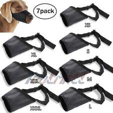 7Pcs/Set Adjustable Anti Biting Chewing Barking Pet Dog Muzzle Mouth Mask Cover