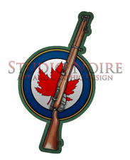 Canadian Roundel Enfield .303 Army WW2 Military Rifle Vinyl Decal Sticker