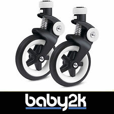 Bugaboo Bee3 Bee 3 Pair of Front Wheels 6 Inch with Fork Spare Replacement BNIB