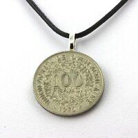 Collier pièce de monnaie Afrique de l'Ouest 100 francs