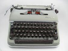 """Vintage Olympia Typewriter 1950's  Red Crown """"S"""" Grey"""