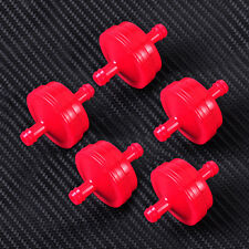 """5x 1/4"""" Plastic Red Inline Fuel Filter fit for Briggs & Stratton 298090 298090S"""