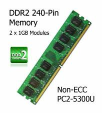 2GB Kit DDR2 Memory Upgrade Biostar N68S Motherboard Non-ECC PC2-5300U