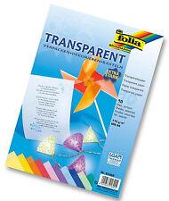 Folia farbiges Transparent Papier DIN A4 115g/m² Basteln Dekorieren extra stark