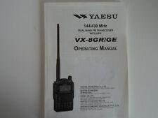 YAESU VX-8GR-GE (GENUINE PRINT INSTRUCTION MANUAL ONLY)....RADIO_TRADER_IRELAND.