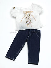 """Doll Clothes AG 18"""" Jeans Blouse by Carpatina Made For American Girl Dolls"""