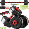 FITNESS DUMBBELLS WEIGHTS BARBELL DUMBBELL BODY BUILDING SET 10 l 15 l 20KG