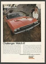 DODGE CHALLENGER by Chrysler - 1969 Vintage Car Print Ad