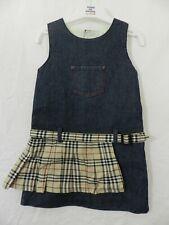 robe jeans et tartan BURBERRY  taille 2 ans tbe (C1489)